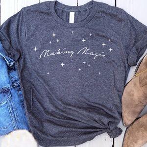 Making magic graphic tee t-shirt top New!